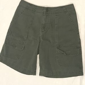 Pants - Cassini Collection Dk Green Cargo Shorts